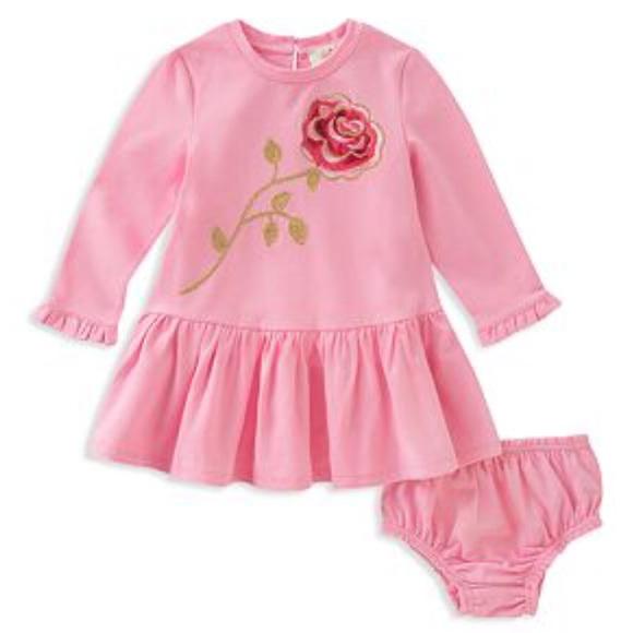 b04fe273ce4 🆕 KATE SPADE baby girls rose dress + bloomers NWT